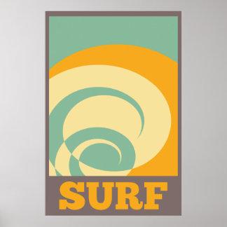 Surf tribal retro pôster