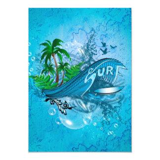 Surfar Convite 12.7 X 17.78cm