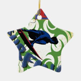 surfar tribal ornamento de cerâmica