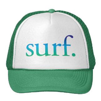 surfe o chapéu tropical da praia do surf azul e boné