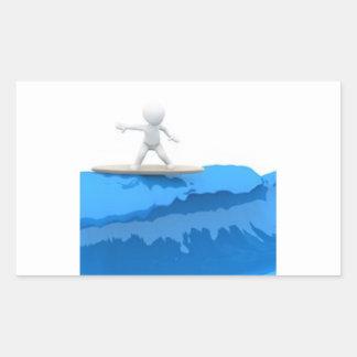 Surfista dos desenhos animados - etiqueta