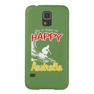 Surfista feliz AUSTRÁLIA (branca) Capas Par Galaxy S5