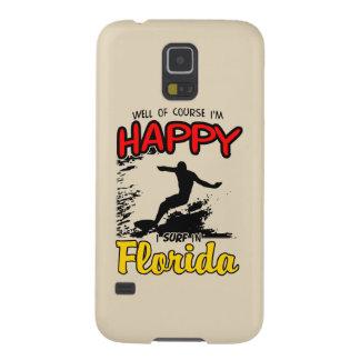 Surfista feliz FLORIDA (preto) Capas Par Galaxy S5