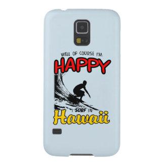 Surfista feliz HAVAÍ (preto) Capinha Galaxy S5