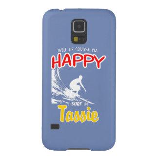 Surfista feliz TASSIE (branco) Capinha Galaxy S5