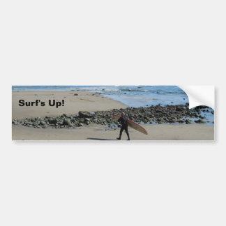 Surfista na praia de Rincon, Ventura, CA Adesivo Para Carro