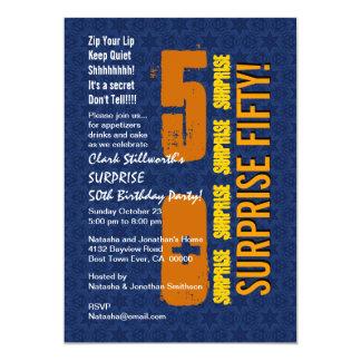 SURPREENDA o 50th aniversário moderno StarsGold Convite 12.7 X 17.78cm