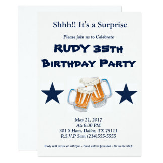 Surpresa do aniversário convite 12.7 x 17.78cm