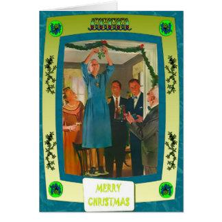 Suspensão acima das decorações cartão
