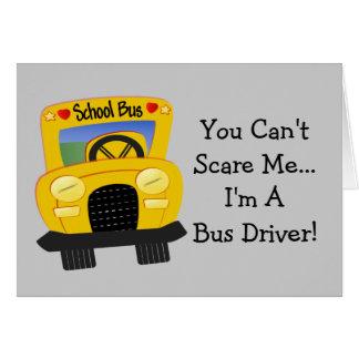 Susto do condutor de autocarro (customizável) cartão comemorativo