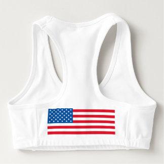 Sutiã Esportivo Bandeira dos Estados Unidos da bandeira dos EUA