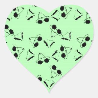 Sutiãs pretos adesivo coração