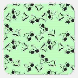 Sutiãs pretos adesivo quadrado