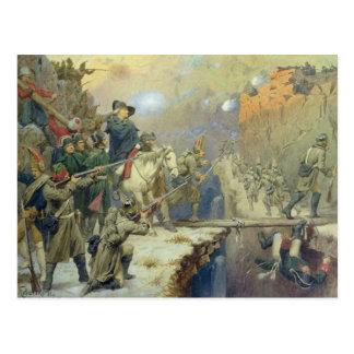 Suvorov que cruza a ponte do diabo em 1799, 1880 cartão postal