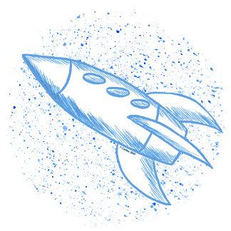 Blue Rocketship