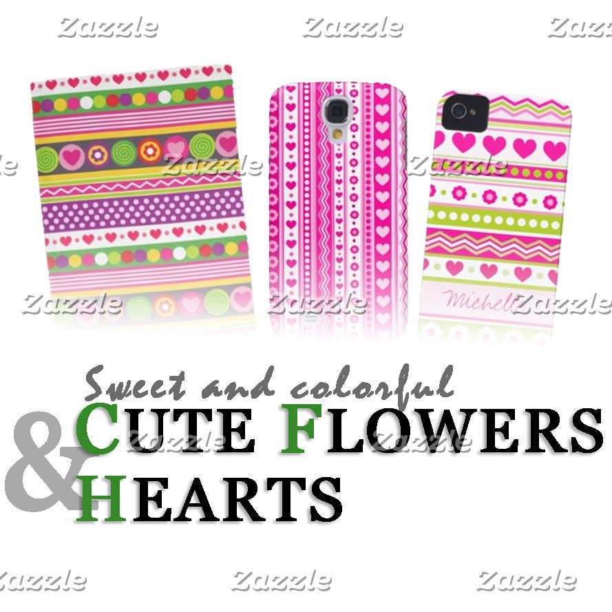 Cute flowers & hearts