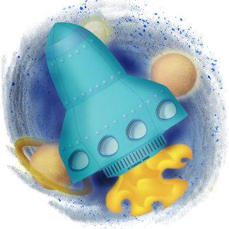 Aqua Rocketship