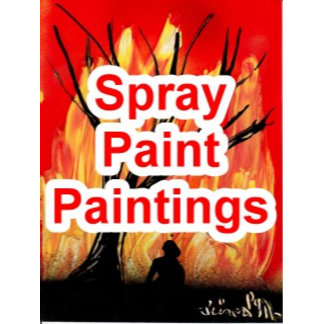Spray Paintings (spraypaint art), space painting