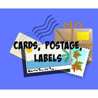 CARDS, Postcards, Invitations, Postage, Labels...