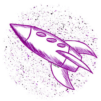 Purple Rocketship