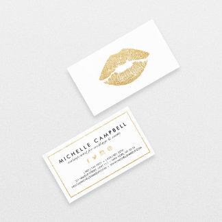 Makeup artist faux glitter chic gold lips elegant