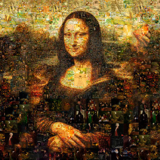 mona lisa collage - mona lisa mosaic - mona lisa -