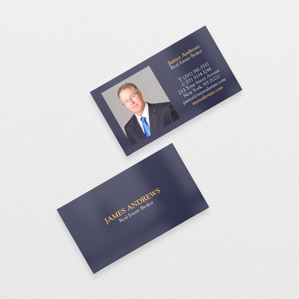 Professional plain blue simple real estate photo
