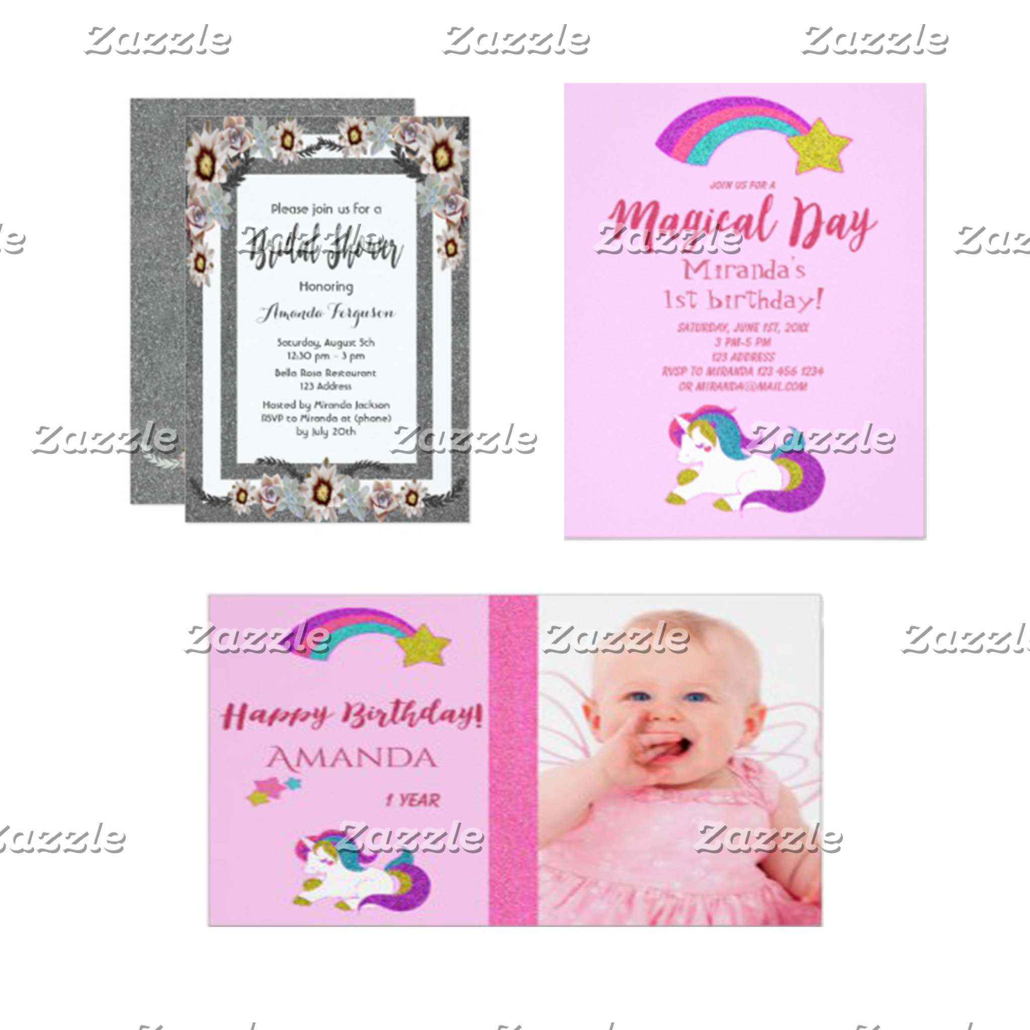 Cards, invitations and postage