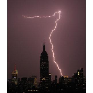 NYC Lightning Strikes, Rainbows