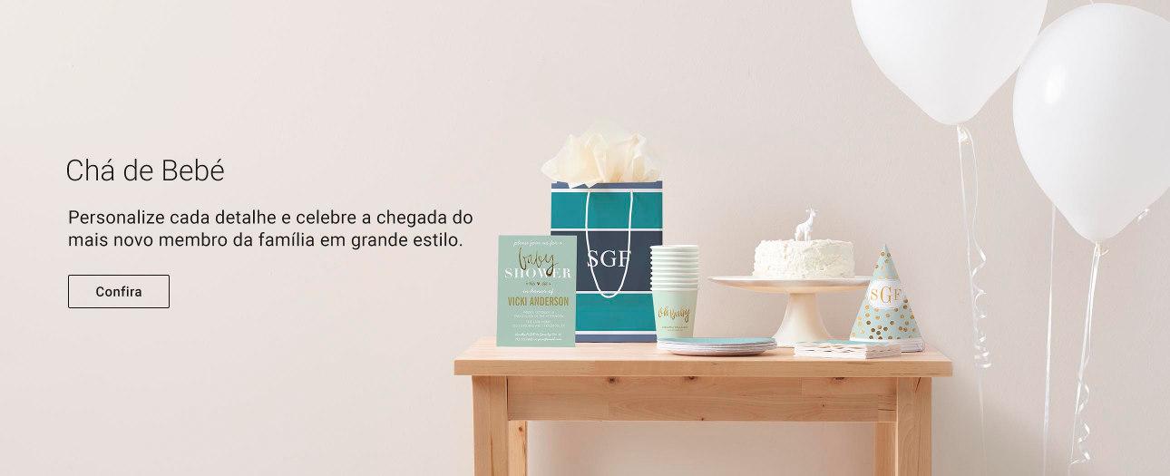 Encontre produtos para chás de bebé completeamente personalizáveis na Zazzle!