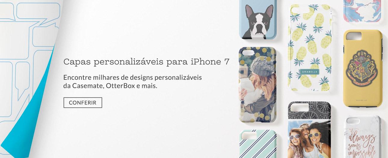 Capas personalizáveis para iPhone 7