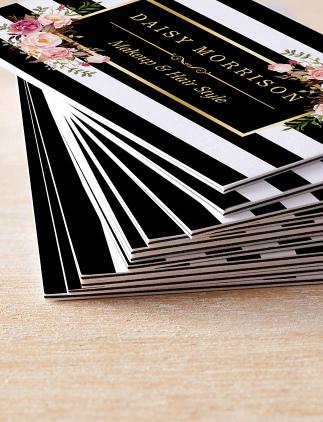 Cartões de visita elegantes na Zazzle