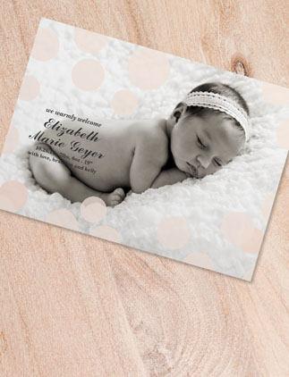 Cartões e convites com tema de bebês