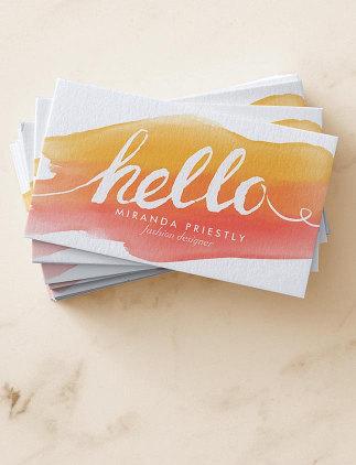 Cartões de visita modernos na Zazzle