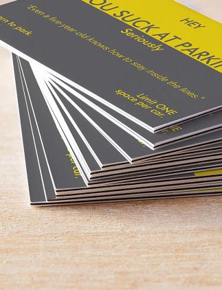Cartões de visitas profissionais.