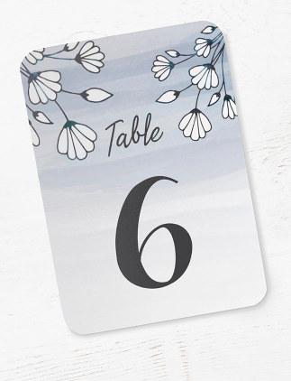 Cartões para Numeração de Mesa na Zazzle