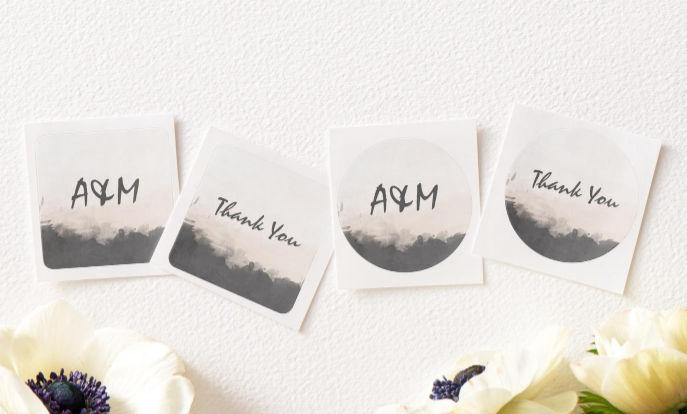 Veja a nossa coleção de adesivos personalizáveis para casamentos!