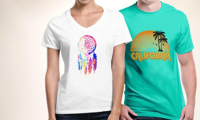 Camisetas personalizadas. Estampas de camisetas para personalizar.