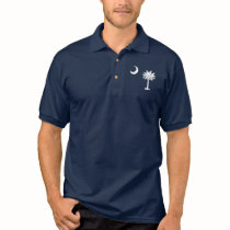 Bandeira de South Carolina T-shirt Polo