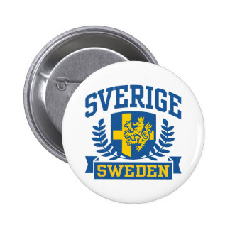 Sverige Bóton Redondo 5.08cm