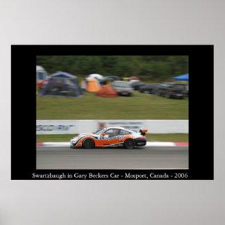 Swartzbaugh no carro de Gary Becker Pôster