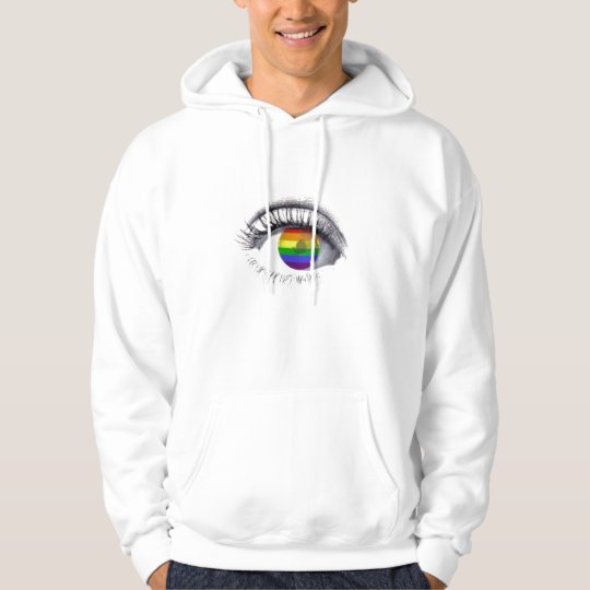 Sweat Shirt Rainbow Eye Moletom Com Capuz