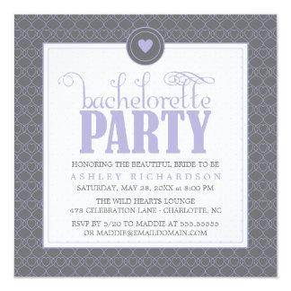 """Sweet Hearts Bachelorette Party Invitation 5.25"""" Square Invitation Card"""