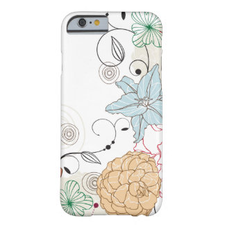 Swirly abstrato floral capa barely there para iPhone 6