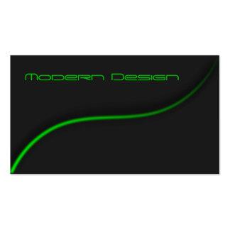 Swoosh preto & verde moderno simples - cartão de cartão de visita