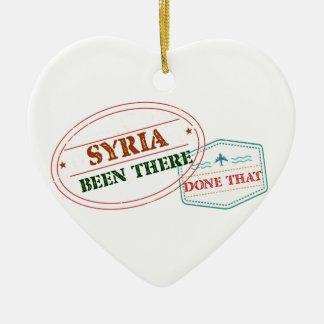 Syria feito lá isso ornamento de cerâmica coração