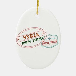 Syria feito lá isso ornamento de cerâmica oval