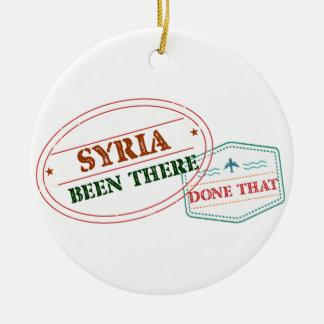 Syria feito lá isso ornamento de cerâmica redondo