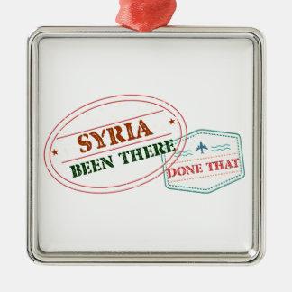 Syria feito lá isso ornamento quadrado cor prata
