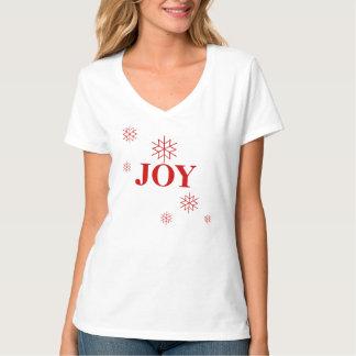 T-Camisa-Alegria do feriado das mulheres T-shirts